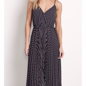 "Ali & Jay NWT ""Like A Boss"" Striped Midi Dress."
